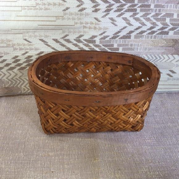 Vintage Boho Small Wicker Basket